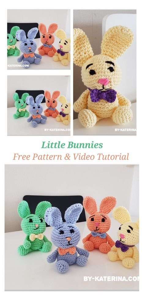 little bunnies. Free crochet pattern and video tutorial | crochet ...