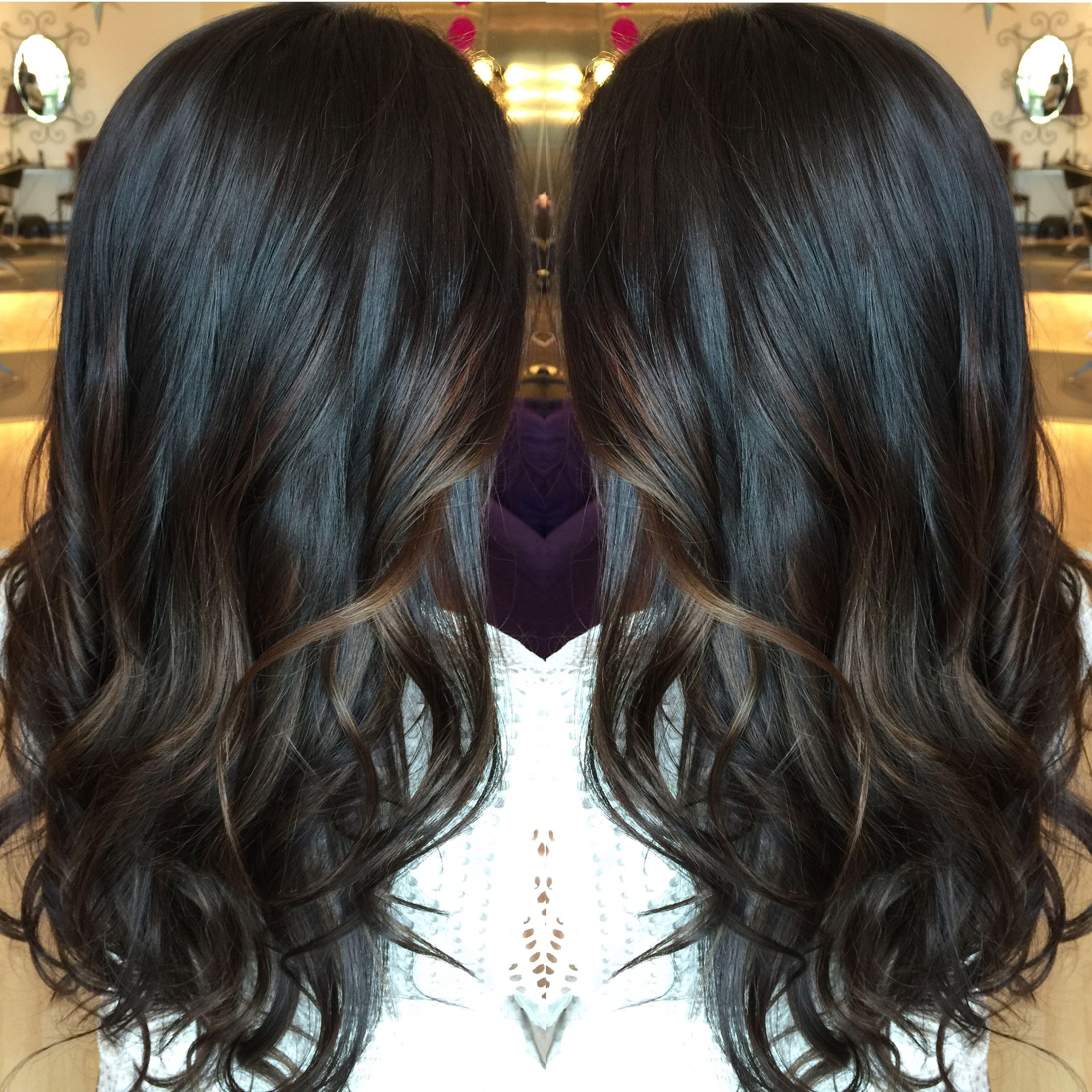 Subtle Bayalage For Dark Hair Thank You Cr Hair Black Hair Balayage Balayage Hair Hair