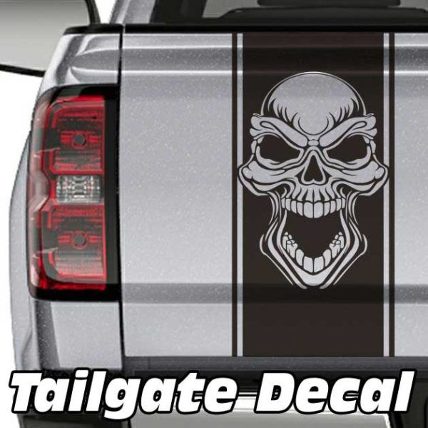 Skull Truck Tailgate Decal Truck Tailgate Decals Pinterest - Skull decals for trucks