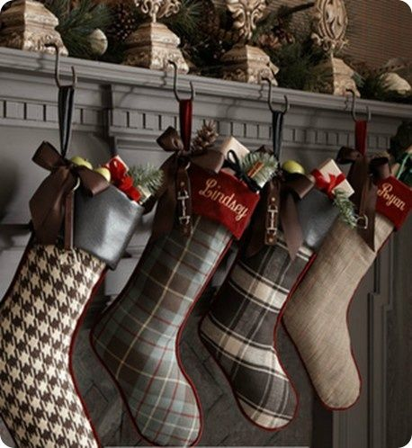 Christmas stockings Love the different use of fabric Holidays