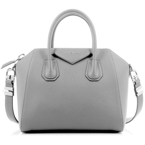 7659f5090ce Givenchy Antigona Small Pearl Gray Bag found on Polyvore featuring bags,  handbags, givenchy purse, zipper handbag, givenchy handbags, top handle  purse and ...