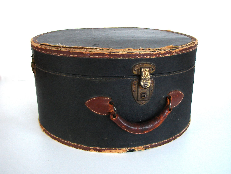 Black Leather Hat Box Leather Hats Black Leather Hat Hat Box