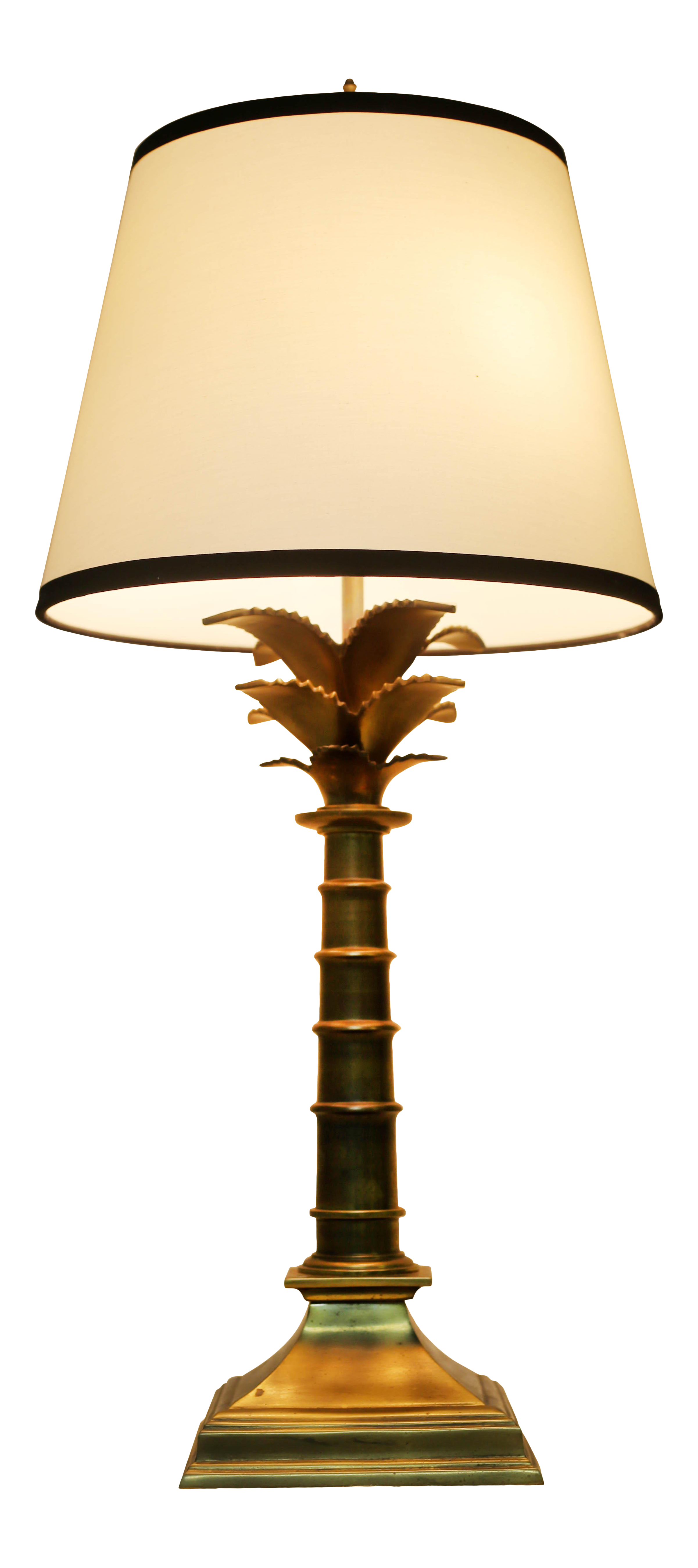 Vintage Brass Palm Tree Lamp By Leviton On Chairish Com Bronze Table Lamp Table Lamp Vintage Table Lamp