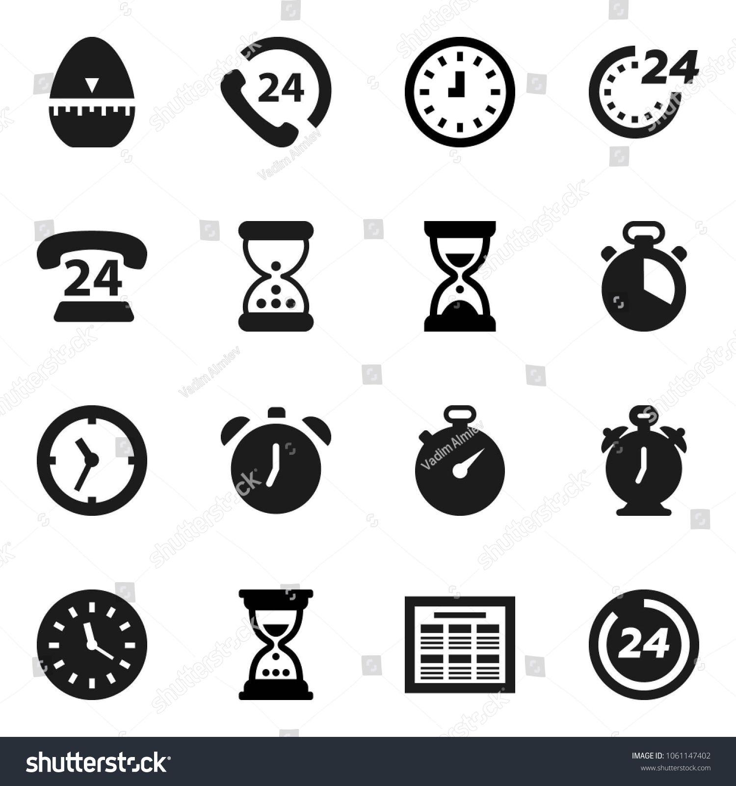 Flat vector icon set cook timer vector, alarm clock