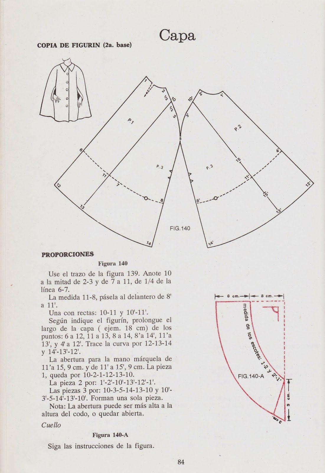 romi w: patrones de capas | Trazos | Pinterest