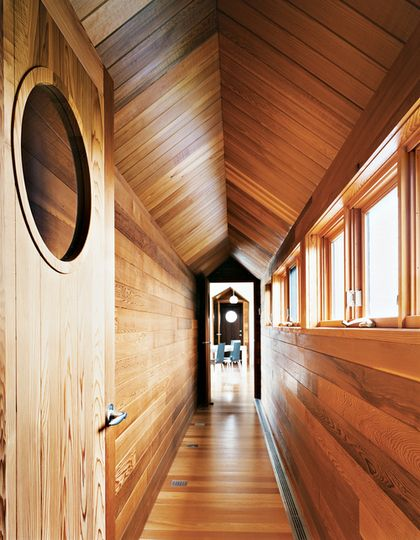 Beautiful Wood Paneled Rooms: A Beautiful Wood Paneled Passageway