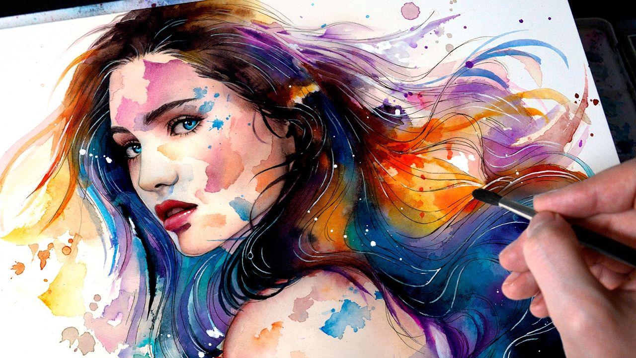 Watercolor Portrait Wash Away Watercolor Portrait Tutorial