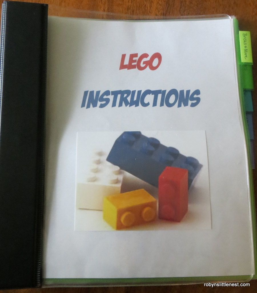 A Storage Idea For Lego Instructions Is A Binder But I've