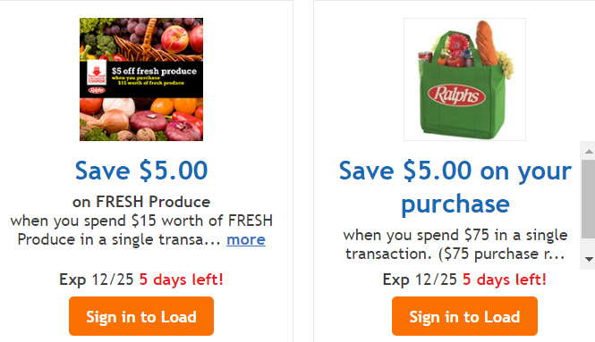 Ralphs: $5 of Fresh Produce & $5 off $75 Digital Coupons!! - http://dealmama.com/2016/12/ralphs-5-fresh-produce-5-off-75-digital-coupons/