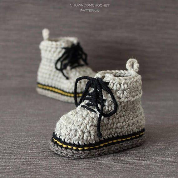 Crochet PATTERN Martens style booties | Häkeln | Pinterest ...