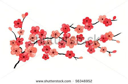 Bird On Branch Clip Art | images of cherry blossom branch ...