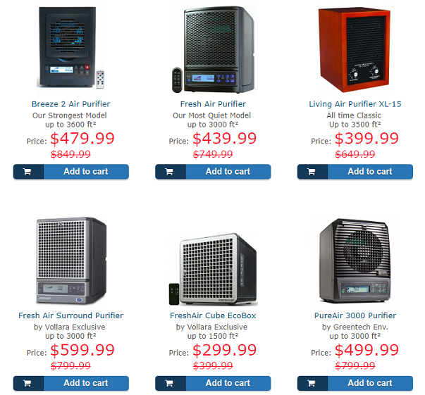 Seasonal discounts on the most popular models of air
