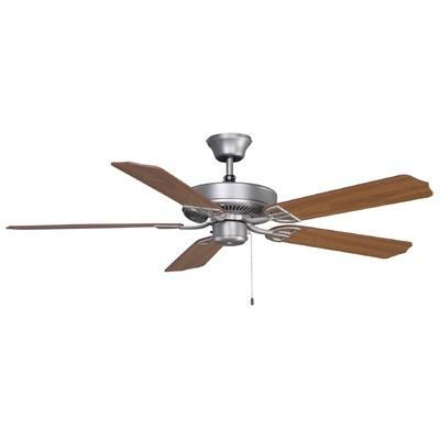 """(CLICK IMAGE TWICE FOR PRODUCT DETAILS AND PRICING) Fanimation Ceiling Fans - 52"""" Builder Series 5 Blade Standard Ceiling Fan Finish: Satin Nickel - See a bigger selection of CEILING FANS at http://www.zearth.com/Ceiling-Fans-C34.aspx"""