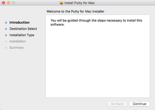 install putty on mac