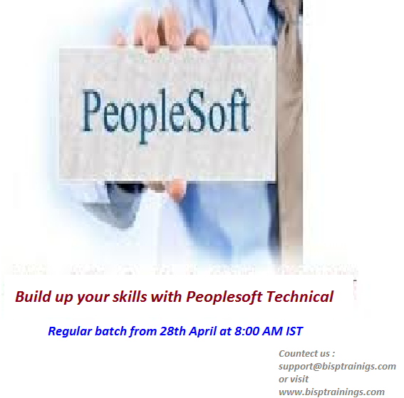 Learn Peoplesoft Technical Join Regular session from Friday 28th ...
