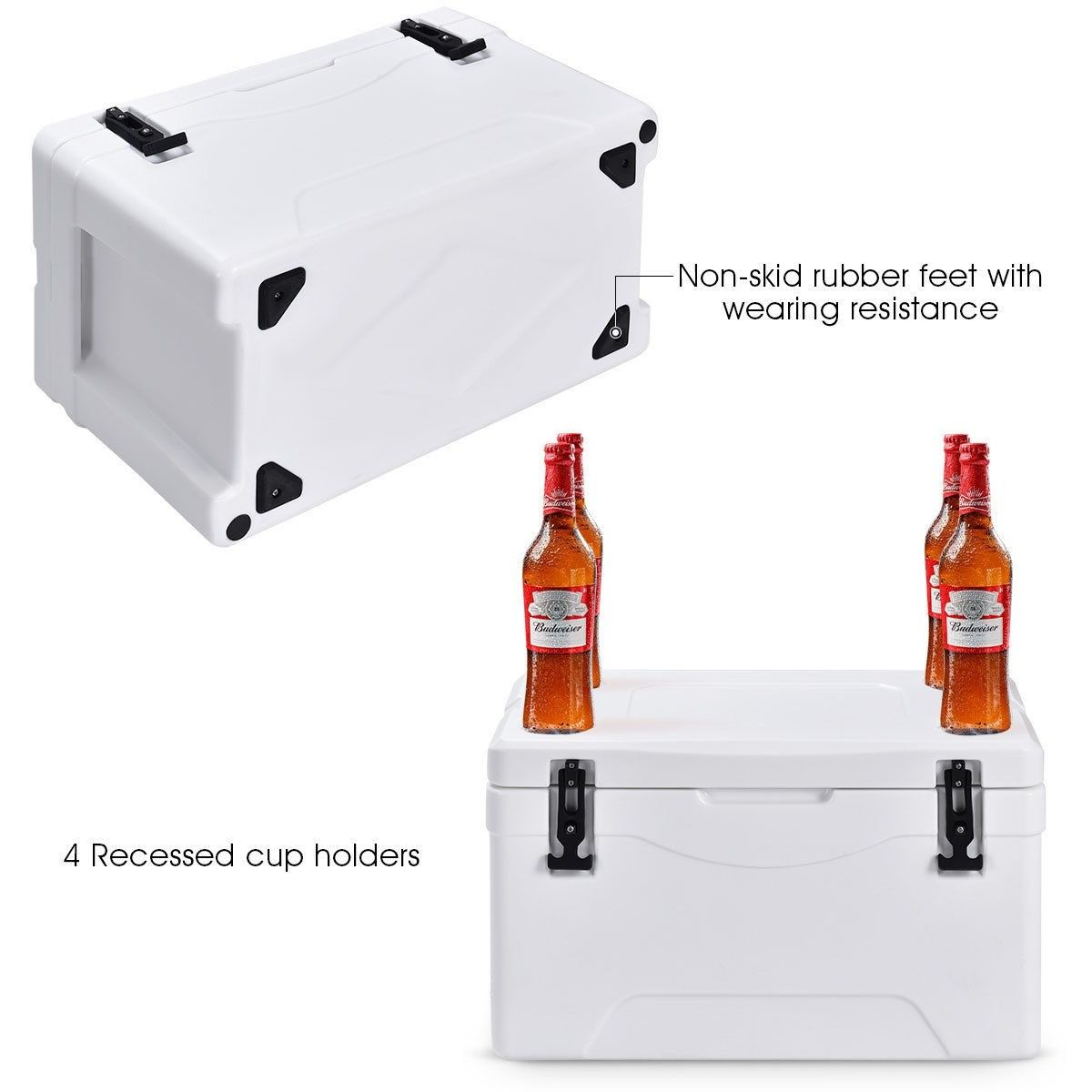 40 Quart Heavy Duty Outdoor Insulated Fishing Hunting Cooler Insulation Thickness Insulation Materials Yeti Type Coolers