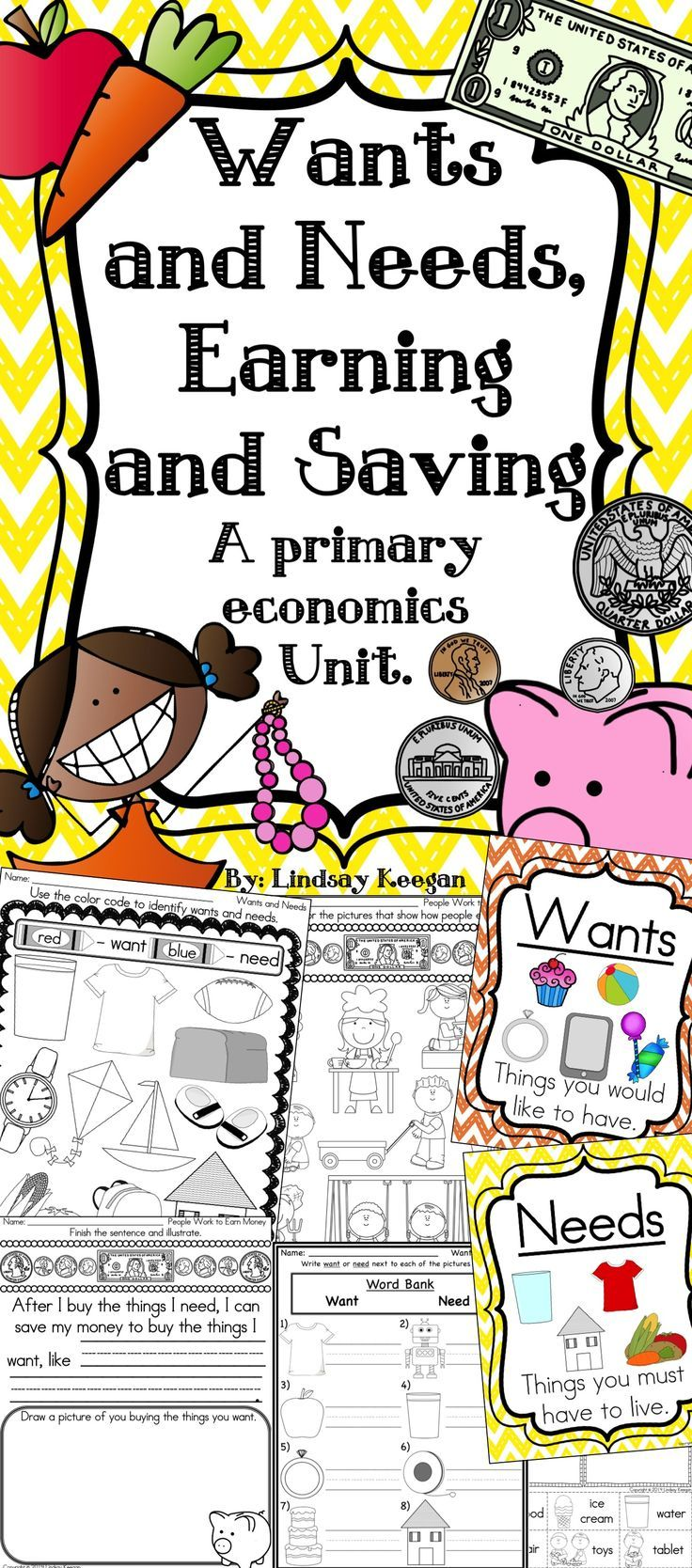 Wants and Needs, Earning and Saving: A Primary Economics Unit ...
