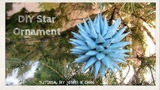 Christmas Crafts - DIY Polish Star Ornament - Christmas Decoration & Paper Crafts Tutorial - YouTube