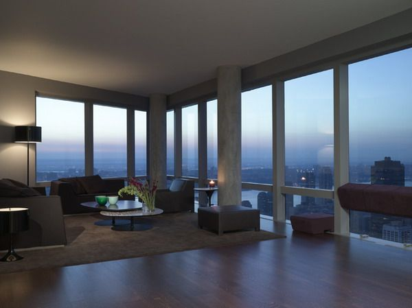 Apartment Design Ideas with Modern Living Room with Amazing View ...