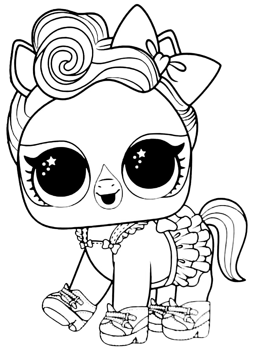 LOL Surprise Pet Lucky Luxe  Cute coloring pages, Cute dog