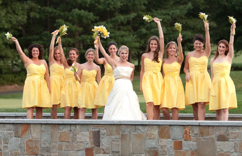 Bright Coloured Bridesmaid Dresses: Color Palette: Yellow