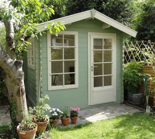 Keops Cabin Cuprinol Garden Wood Shades In Willow And