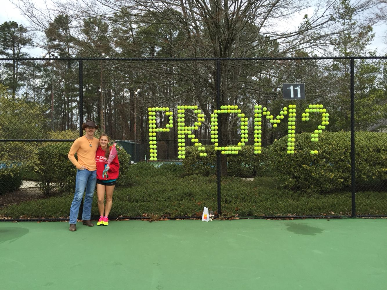 Tennis Promposal Homecoming Proposal Asking To Prom Promposal