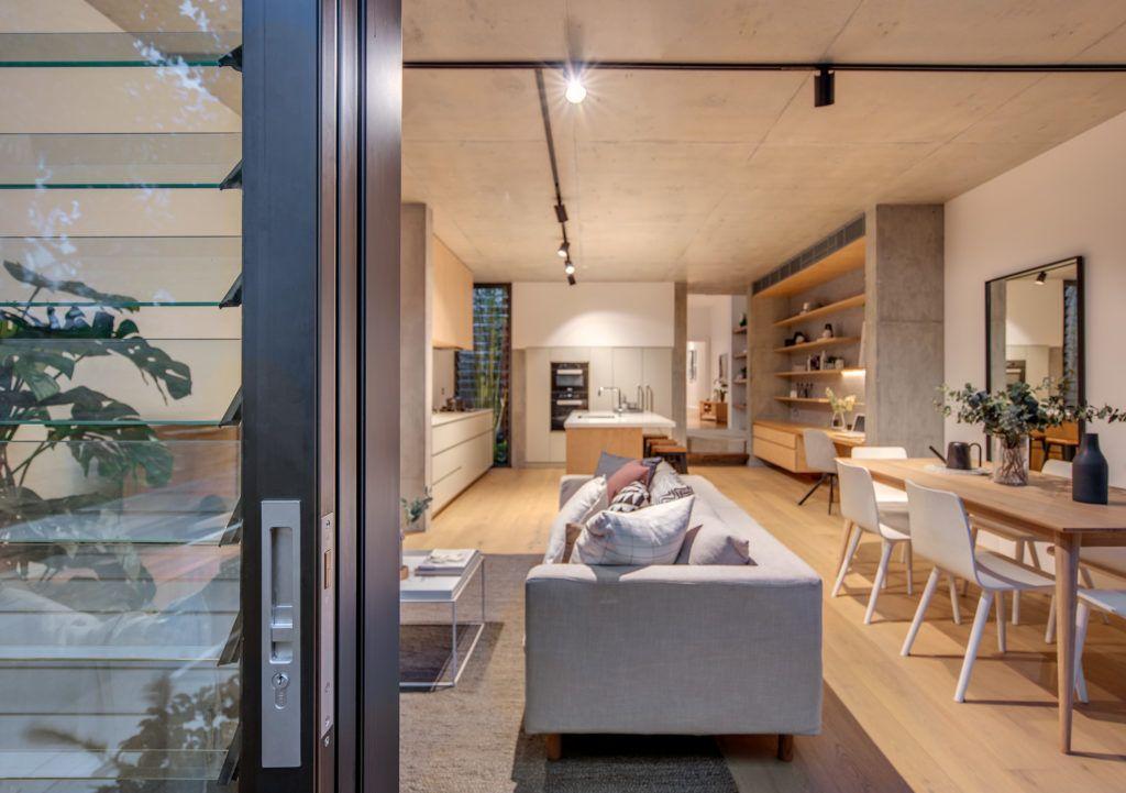 Balmain Semi Lounge Areas Narrow House Local Design