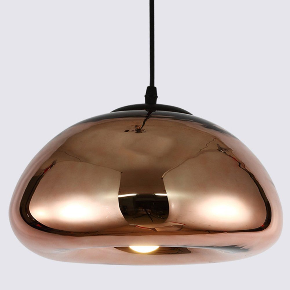 Sophilab Tom Dixon Modern Bowl Glass Pendant Hanging Lights Nordic Brass Mirror Ceiling Lamp Fixtures Led Hanging Pendant Lights Mirror Ceiling Hanging Lights