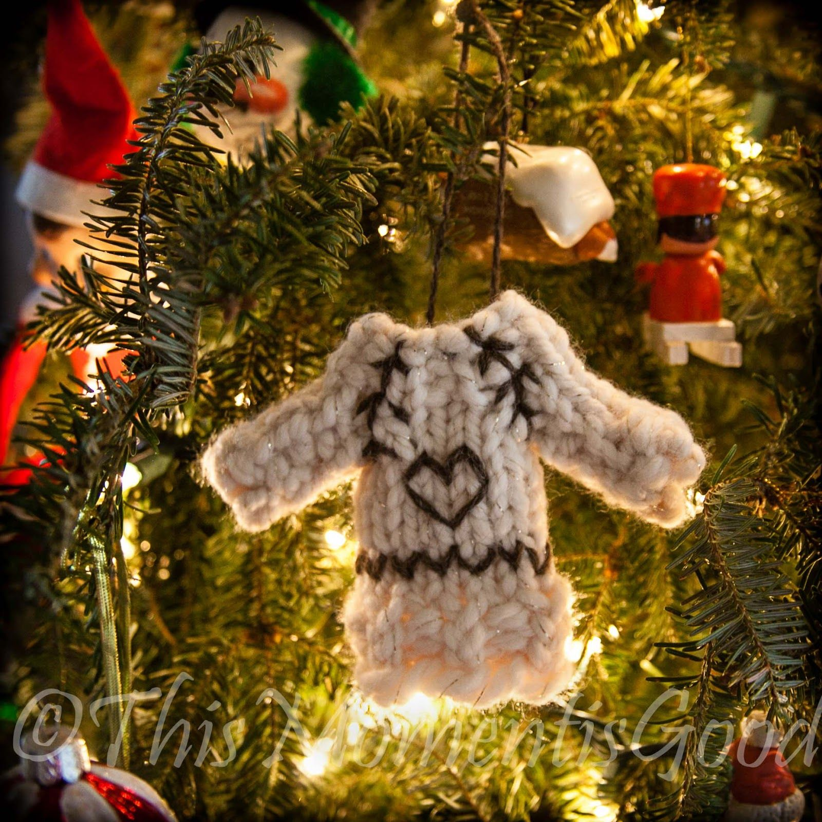 Delightful Loom Knit Christmas Ornaments Part - 8: Loom Knitting By This Moment Is Good!: LOOM KNIT SWEATER ORNAMENT PATTERN!