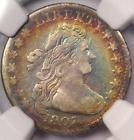 1807 Draped Bust Dime 10C Coin - Certified NGC Fine Details - Rainbow Tone!