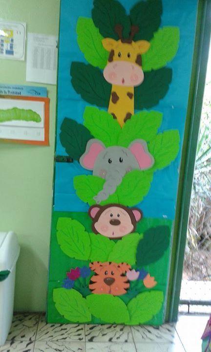 Pin de dulce hern ndez en ideas preescolar classroom for Puertas decoradas educacion infantil