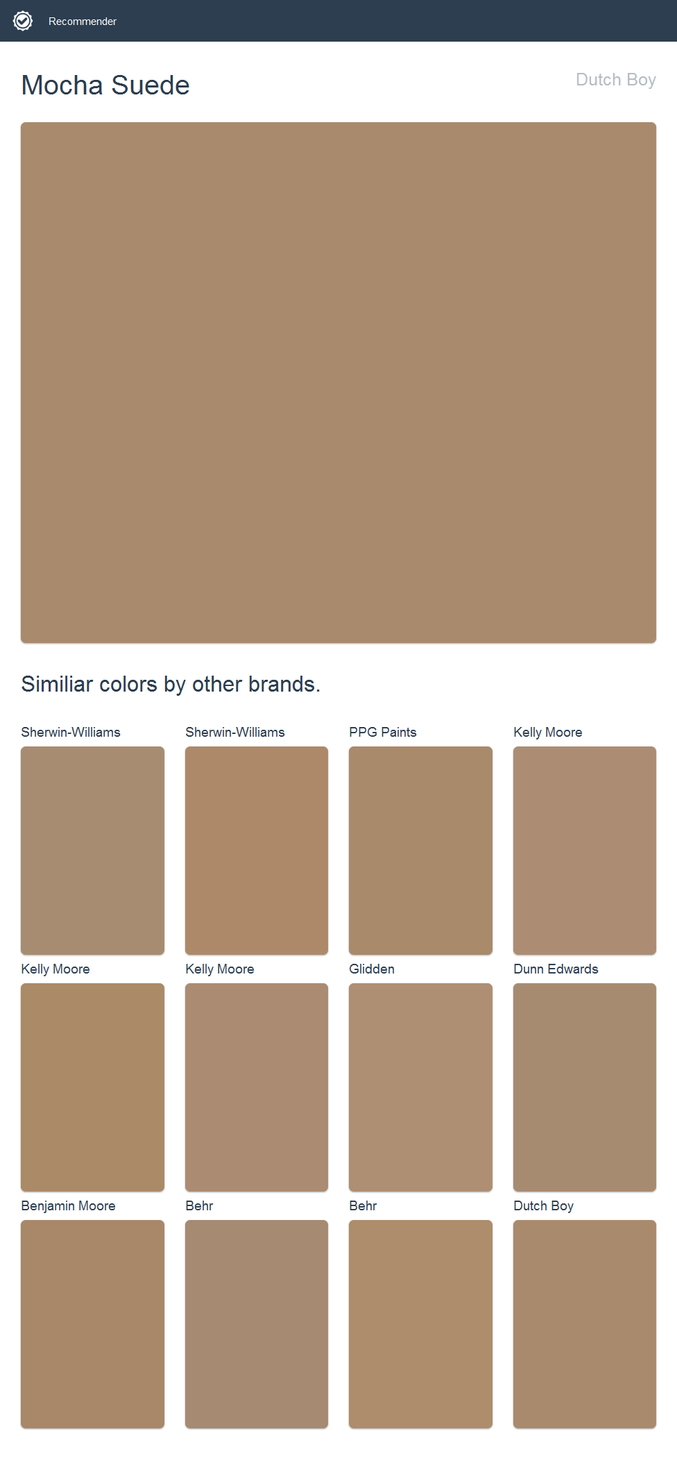 Mocha Paint Colors mocha suede, dutch boy. | 2017 - dutch boy paint | pinterest
