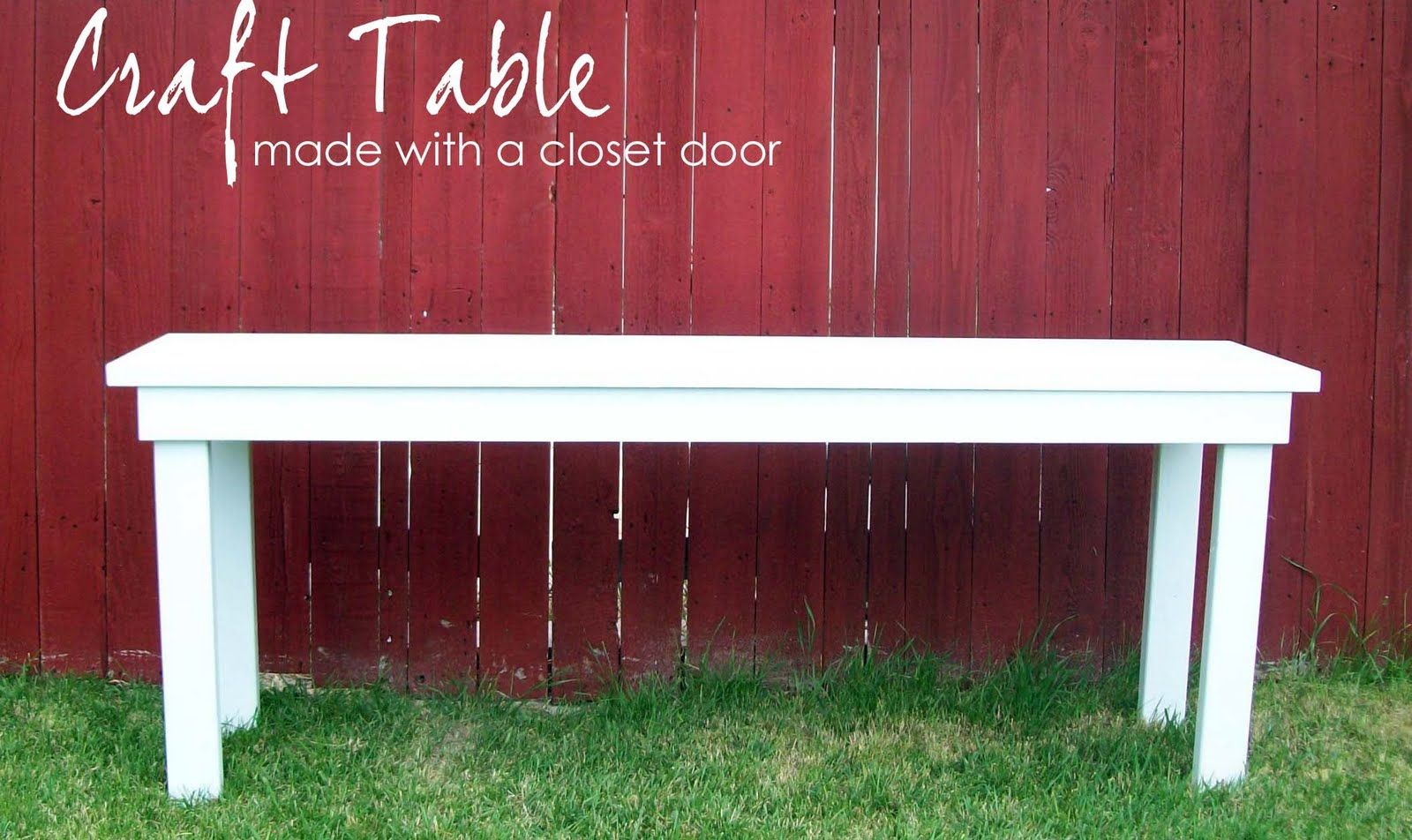 craft table made from a hollow core door closet door arts rh pinterest com