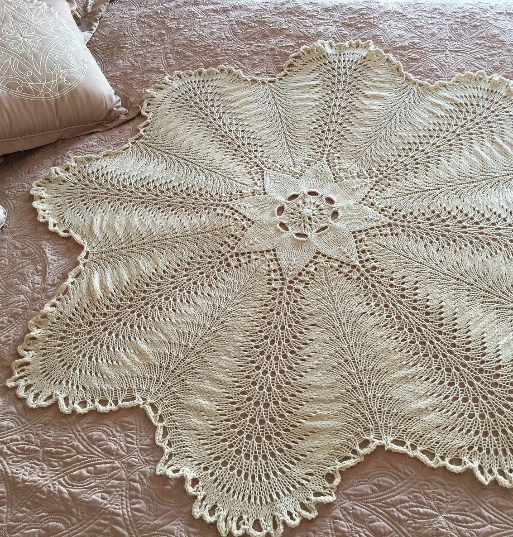 Free Knitting Pattern for Hemlock Ring Blanket - This ...