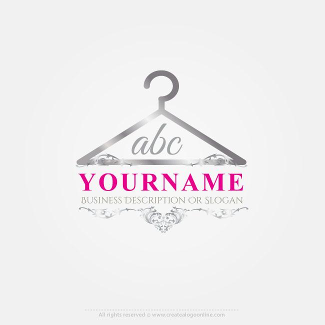 Online Free Logo Maker Fashion Hanger logo design