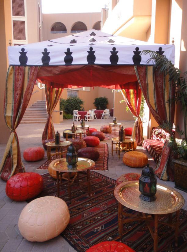 Arabian nights and moroccan theme party decorations for Arabian nights party decoration ideas