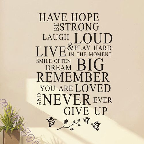 8 99 S 038 Have Hope Quote Wall Stickers Art Quotes Sticker Decal Decals Home Decor