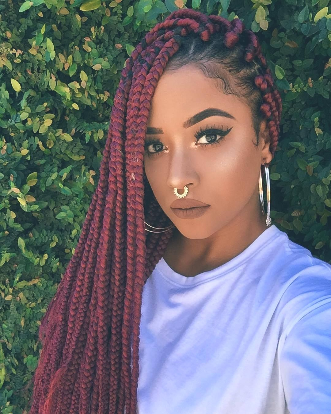 Hairstyles Color Braids Hairstyles Gorgeous Beautiful Dutch Red Box Braids Box Braids Hairstyles Box Braids Styling