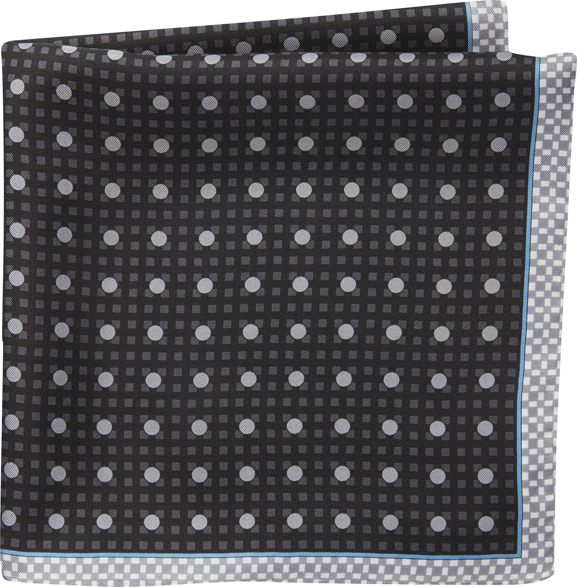 Jos. A. Bank Check & Dot Pattern Pocket Square #pocketsquares