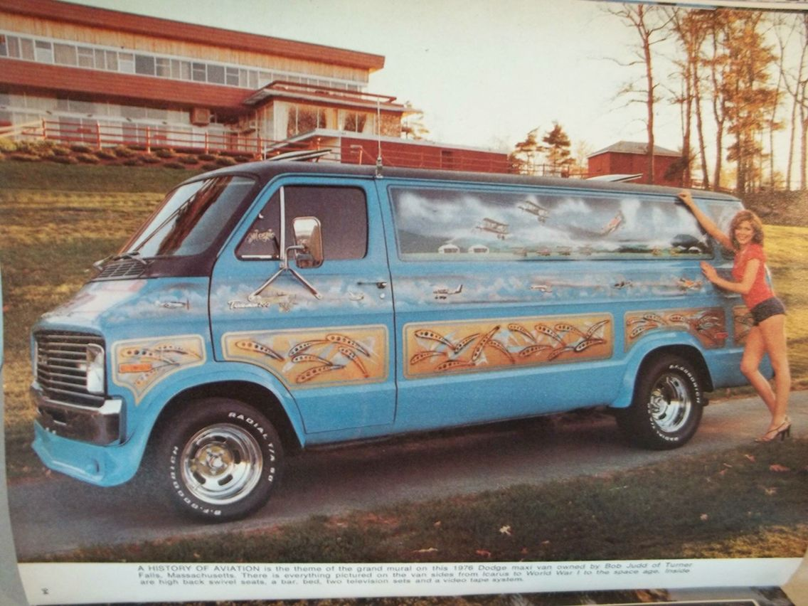 Custom 70 s dodge mural van
