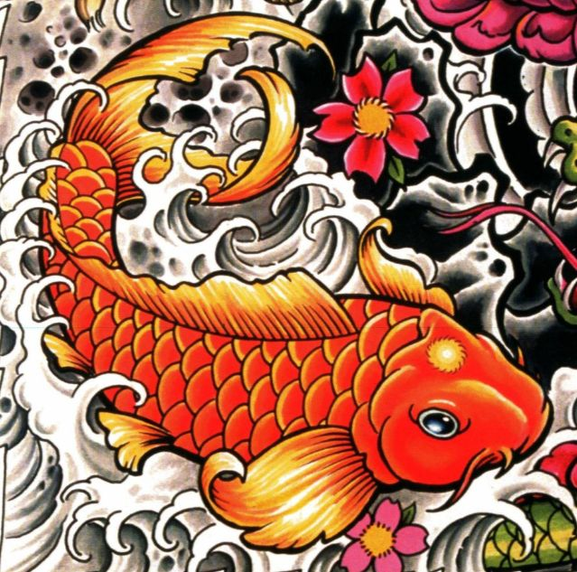 koi fish tattoo design tattoos pinterest tattoo skizzen japanische tattoos und tattoo. Black Bedroom Furniture Sets. Home Design Ideas
