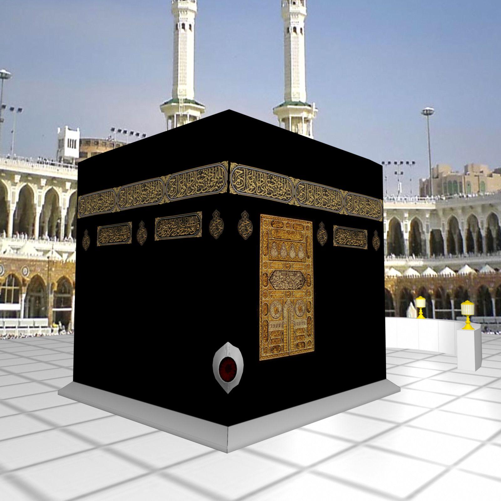 3d kaaba black stone model | Islam | Mecca kaaba, Masjid al