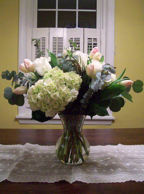Silver Dollar Eucalyptus Used In A Floral Arrangement Floral Arrangement Inspiration