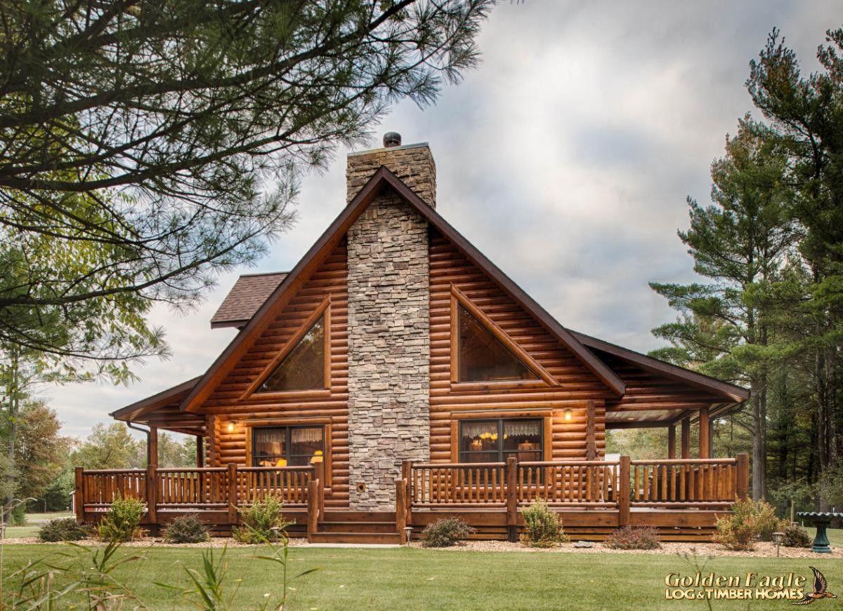 Golden Eagle Log and Timber Homes : Plans & Pricing : Plan Details : Lofted Log 1969AL