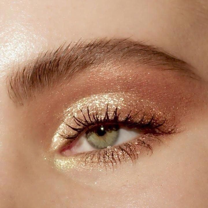 natural makeup  #glittereyemakeup