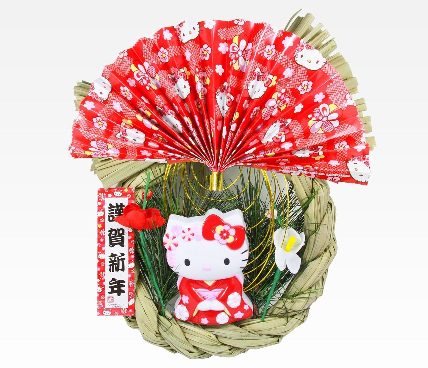 Hello Kitty Lunar New Year Wreath: Fan | Hello kitty ...