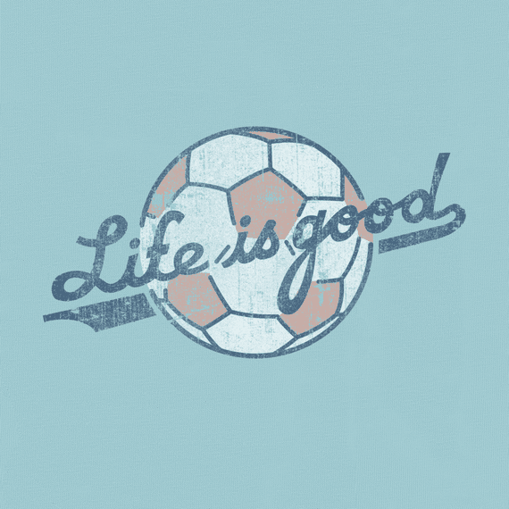 Women S Life Is Good Soccer Crusher Tee Life Is Good Soccer Backgrounds Soccer Quotes Soccer Aid