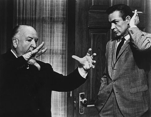Alfred Hitchcock & Sean Connery