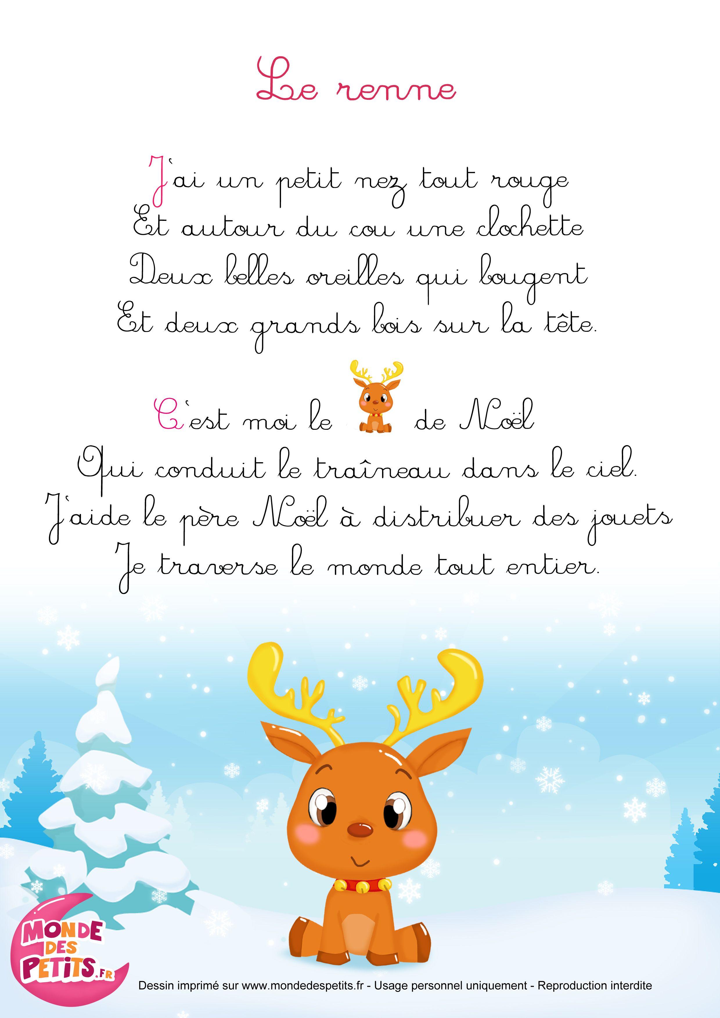 Chanson De Noel Pour Enfant : chanson, enfant, Comptinette-renne.jpg, 2,480×3,508, Pixels, Comptines,, Chanson, Noel,, Comptine, Crèche